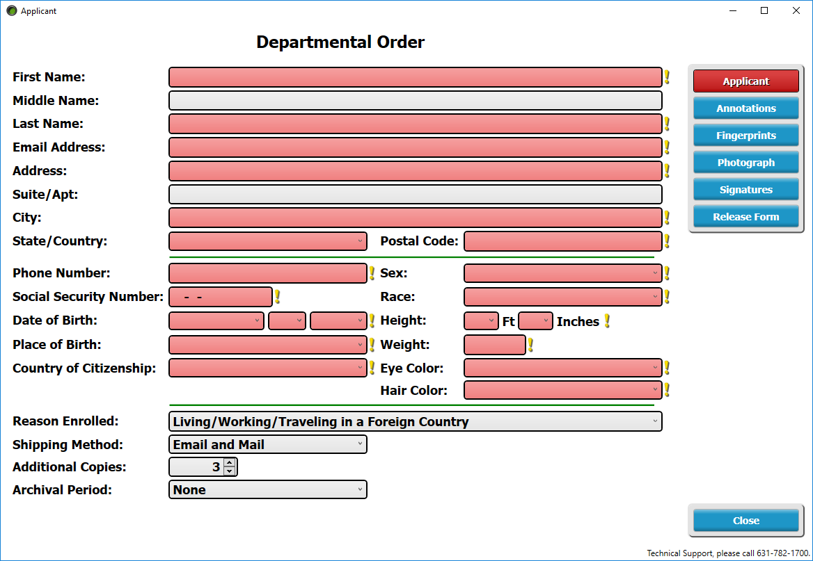 Departmental Order Enrollment Demographics